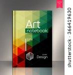 blank vertical hardcover book... | Shutterstock .eps vector #366419630