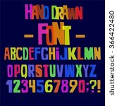 fun colorful hand drawn font... | Shutterstock .eps vector #366422480