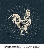 Rooster Label. Vintage Styled...