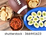high angle view of snacks for...   Shutterstock . vector #366441623