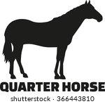 quarter horse | Shutterstock .eps vector #366443810