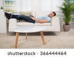 full length of mid adult man... | Shutterstock . vector #366444464
