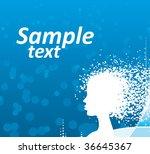 girl | Shutterstock .eps vector #36645367