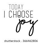 joy slogan in black and in... | Shutterstock .eps vector #366462806