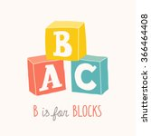 colorful alphabet cubes with a... | Shutterstock .eps vector #366464408