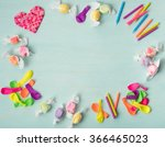 cute  colorful aerial view of a ... | Shutterstock . vector #366465023