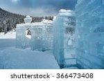 Ice Hotel At Lake Louise  Canada