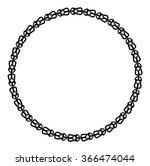 black and white round frame... | Shutterstock .eps vector #366474044