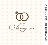vector illustration of wedding... | Shutterstock .eps vector #366474560