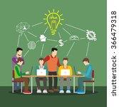 creative team concept vector... | Shutterstock .eps vector #366479318