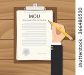 mou memorandum of understanding ...   Shutterstock .eps vector #366480530