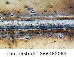 welding seam onto steel sheet... | Shutterstock . vector #366482084
