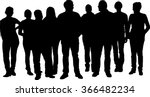 vector silhouette of a large... | Shutterstock .eps vector #366482234