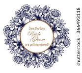 invitation with floral... | Shutterstock .eps vector #366493118