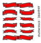 banners  vector    Shutterstock .eps vector #3664949