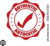 authentic stamp.vector.   Shutterstock .eps vector #366501560