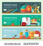 vector back to school banner... | Shutterstock .eps vector #366503450