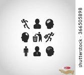 black working businessman icon | Shutterstock .eps vector #366505898