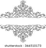 floral frame for headline  | Shutterstock .eps vector #366510173