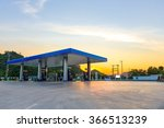 gas station at sunset. | Shutterstock . vector #366513239