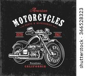 t shirt print with motorcycle... | Shutterstock .eps vector #366528323