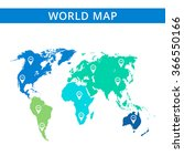 world map template 3 | Shutterstock .eps vector #366550166