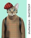 Cat Boy Dressed Up In Urban...
