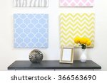 photo frame and decorations on... | Shutterstock . vector #366563690