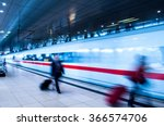frankfurt airport train station ... | Shutterstock . vector #366574706