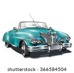 retro car. | Shutterstock .eps vector #366584504