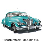 retro car. | Shutterstock .eps vector #366584516