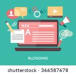 template blogging infographics. ...   Shutterstock .eps vector #366587678