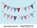 cute patriotic bunting in... | Shutterstock .eps vector #366598229