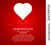 vector beautiful heart greeting ... | Shutterstock .eps vector #366598934