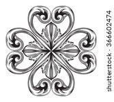 vintage baroque frame scroll... | Shutterstock .eps vector #366602474