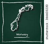 scribble vector map of norway... | Shutterstock .eps vector #366603230