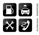 gas station  service icons set | Shutterstock .eps vector #366604268