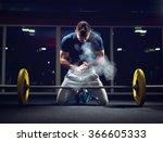 handsome weightlifter preparing ... | Shutterstock . vector #366605333