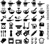 cooking and kitchen icon... | Shutterstock .eps vector #366606590