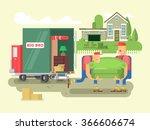 moving design flat | Shutterstock .eps vector #366606674