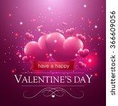 happy valentine's day message ...   Shutterstock .eps vector #366609056