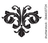 vintage baroque frame scroll... | Shutterstock .eps vector #366610724