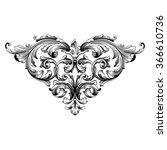 vintage baroque frame scroll...   Shutterstock .eps vector #366610736