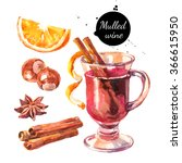 Watercolor Mulled Wine And...