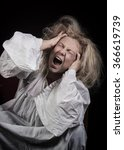 insane woman | Shutterstock . vector #366619739