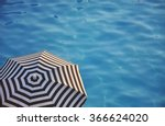 Beach Umbrella Near The Water