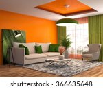interior with sofa. 3d... | Shutterstock . vector #366635648