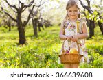 little cute girl holding a... | Shutterstock . vector #366639608