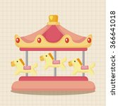 amusement park facilities theme ... | Shutterstock .eps vector #366641018