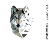 polygonal wolf. polygonal style ... | Shutterstock .eps vector #366642416